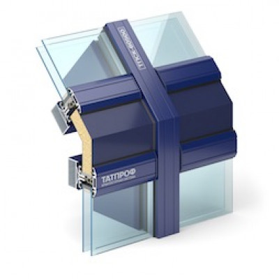 Ригельно-стоечная система из алюминиевого профиля